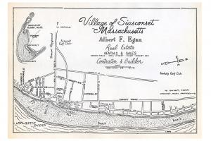 Village of Siasconset Map Print
