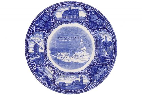 Reproduction Staffordshire Souvenir Plate