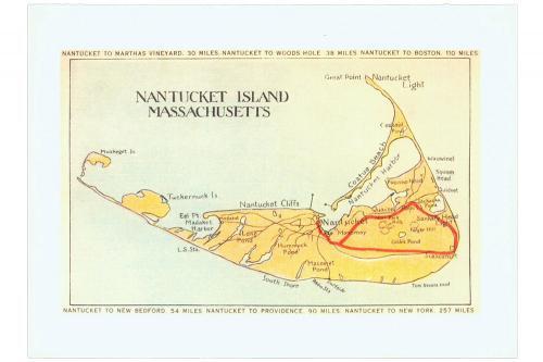 Nantucket Island Map Boxed Notes