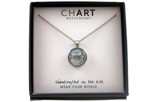 CHART Nantucket Island Medallion Necklace