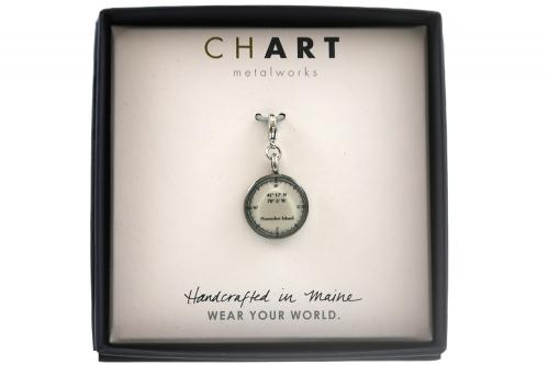 CHART Nantucket Longitude Latitude Medallion