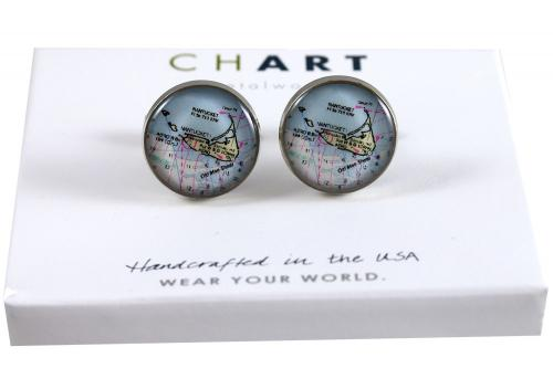 CHART Nantucket Island Medallion Cufflinks