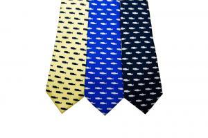 Whale Motif Silk Tie