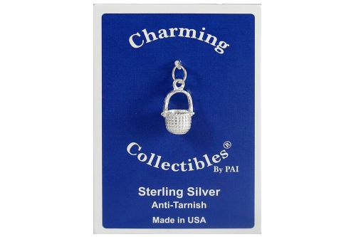 Sterling Silver Basket Charm