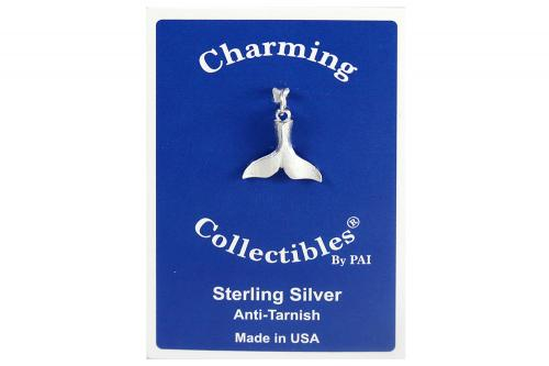 Sterling Silver Whale's Tail Charm