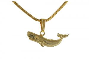 Gold-plated Whale Charm Necklace