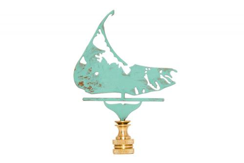 Nantucket Island Weather Vane Lamp Finial