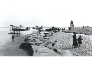 Seaplanes at Brant Point lighthouse, 1918