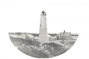 View of Great Point Lighthouse, circa 1860