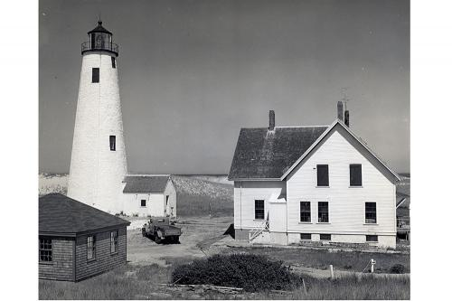 Great Point lighthouse with keeper's house.