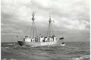 Lightship Nantucket on station, circa 1950