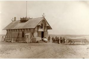 View of the Surfside lifesaving station, circa 1880.