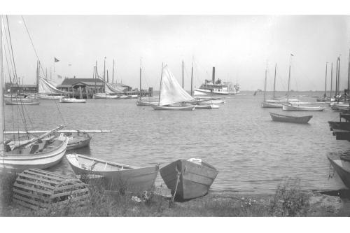 Easy Street boat basin and Steamboat Wharf, circa 1890.