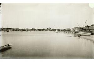View of the harbor from Brant Point, circa 1890..