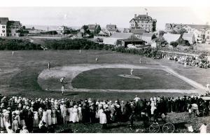 A baseball game on Sunset Hill, 1915.