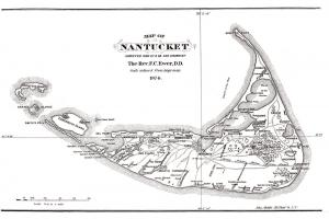 Historical Map of Nantucket  Surveyed and drawn by the Rev. F. C. Ewer, 1874.