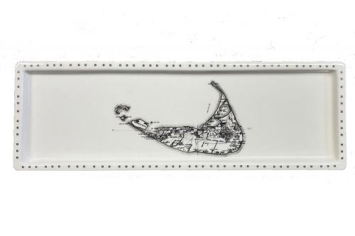 Nantucket plate with white background