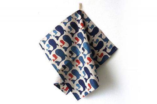 Whale Tea Towel