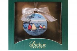 Nantucket Rainbow Fleet Christmas Ornament