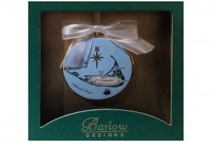 Nantucket Island Christmas Ornament