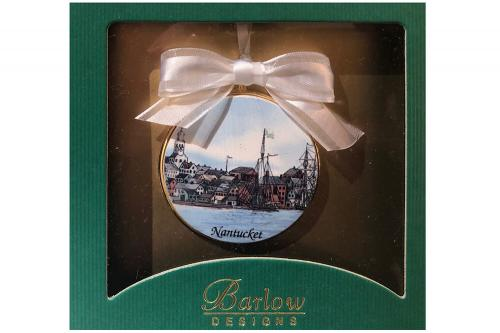 Nantucket Townscape Christmas Ornament