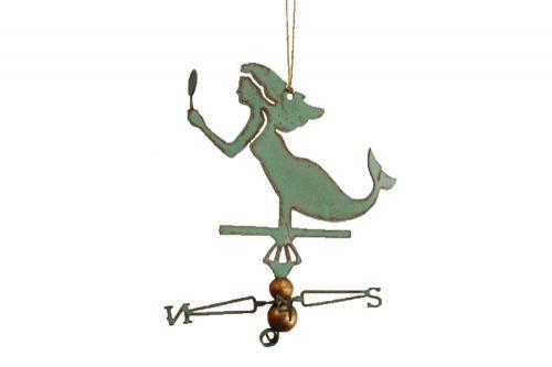 Mermaid Copper Christmas Ornament
