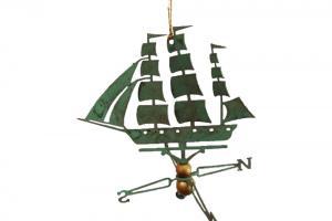 Clipper Ship Copper Christmas Ornament
