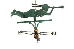 Nantucket Sailor Copper Christmas Ornament