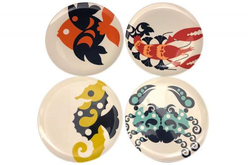 Sea Creatures Luncheon Plate Set