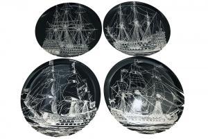 Ships Dinner Plate Set