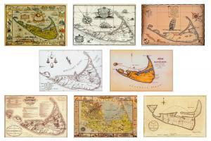 Historic Nantucket Maps Postcards