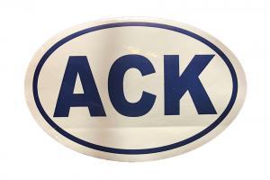 Nantucket ACK sticker
