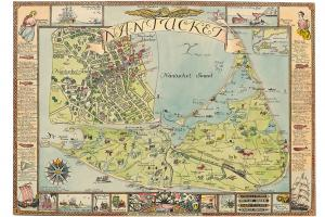 Nantucket Map by Ruth Haviland Sutton