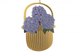 Lightship Basket Hydrangea Ornament
