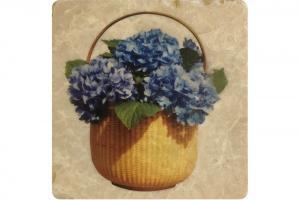 Lightship Basket Hydrangea Coaster