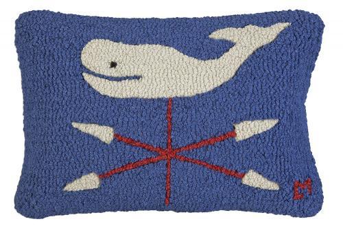 Whale Weathervane Pillow