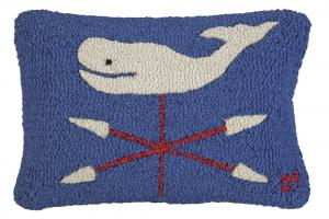Whale Weathervane Pillow