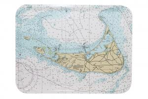 Nantucket Nautical Chart Tray