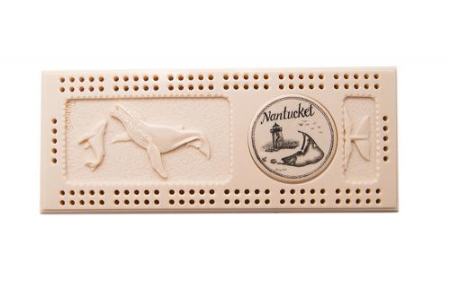 Reproduction Ivory Relief Cribbage Board