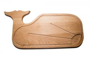 Whale Wood Cutting Board