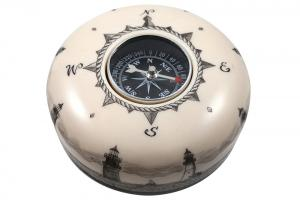 Reproduction Ivory Compass Paperweight