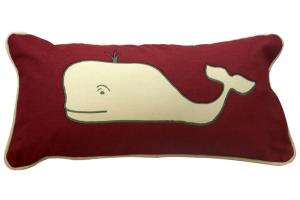 Preppy Whale Pillow
