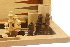 Traveling Wooden Game Set