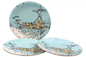 Nantucket Nautical Chart Coaster Set