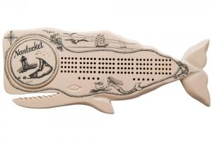 Reproduction Ivory Whale Cribbage Board