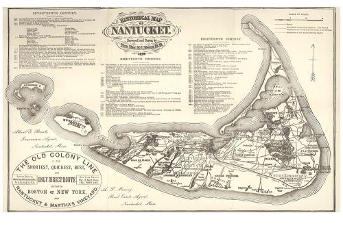 Ewer Map of Nantucket 1869 Print
