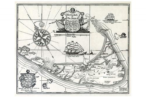Austin Strong Map of Nantucket 1659-1660 Print