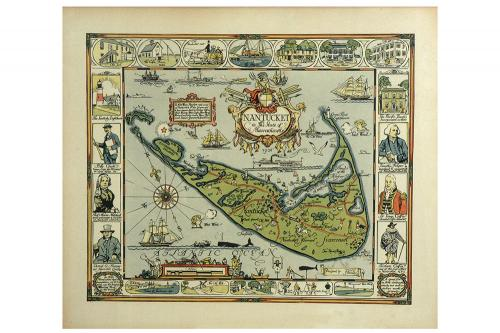 Tony Sarg Map of Nantucket Print