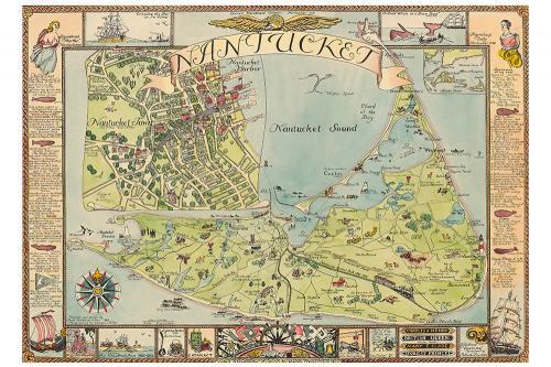 Ruth Sutton Map of Nantucket Print