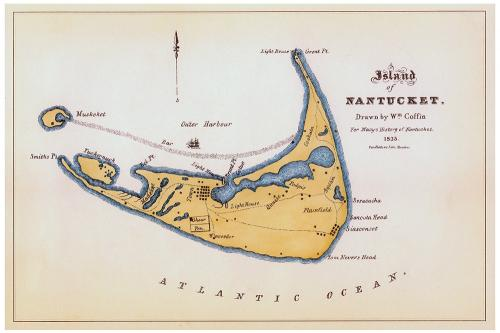 William Coffin Map of Nantucket Print